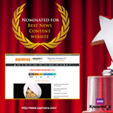 Best News Content website - saamana.com (Nominated)